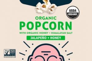 JALAPENO + HONEY ORGANIC POPCORN WITH ORGANIC HONEY + HIMALAYAN SALT