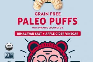 GRAIN FREE HIMALAYAN SALT + APPLE CIDER VINEGAR PALEO PUFFS WITH ORGANIC COCONUT OIL