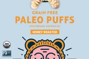 HONEY ROASTED GRAIN FREE PALEO PUFFS WITH ORGANIC COCONUT OIL