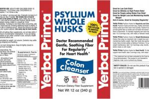 PSYLLIUM WHOLE HUSKS COLON CLEANSER PREMIUM DIETARY FIBER SUPPLEMENT