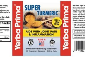 SUPER TURMERIC AIDS WITH JOINT PAIN & INFLAMMATION PREMIUM HERBAL DIETARY SUPPLEMENT