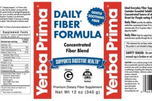 DAILY FIBER FORMULA SUPPORTS DIGESTIVE HEALTH PREMIUM DIETARY FIBER SUPPLEMENT