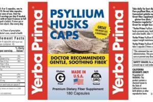 PSYLLIUM HUSKS CAPS PREMIUM DIETARY FIBER SUPPLEMENT CAPSULES