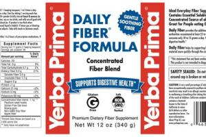 DAILY FIBER SUPPORTS DIGESTIVE HEALTH PREMIUM DIETARY FIBER SUPPLEMENT FORMULA
