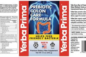 PREBIOTIC COLON CARE PREMIUM DIETARY FIBER SUPPLEMENT FORMULA