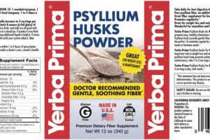 PSYLLIUM HUSKS FOR WEIGHT LOSS & MAINTENANCE PREMIUM DIETARY FIBER SUPPLEMENT POWDER