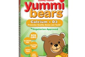 THE ORIGINAL GUMMY VITAMIN CALCIUM + D3 DIETARY SUPPLEMENT YUMMI BEARS