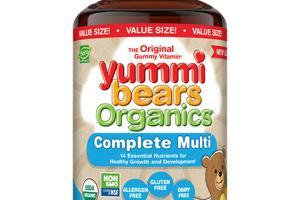 ORGANICS COMPLETE MULTI DIETARY SUPPLEMENT YUMMI BEARS, ORGANIC STRAWBERRY, ORANGE AND PINEAPPLE