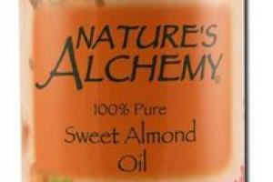 SWEET ALMOND OIL WITH VITAMIN E