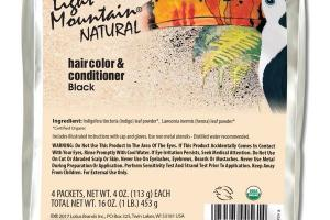 NATURAL HAIR COLOR & CONDITIONER BLACK