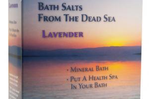 BATH SALTS FROM THE DEAD SEA LAVENDER