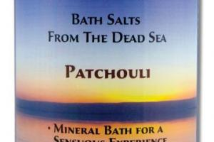 MINERAL BATH SALTS FROM THE DEAD SEA PATCHOULI