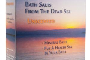 BATH SALTS FROM THE DEAD SEA UNSCENTED