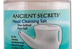 NON-IODIZED PURE NASAL CLEANSING SALT