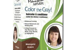 NATURAL COLOR THE GRAY! HAIRCOLOR & CONDITIONER MAHOGANY ACAJOU