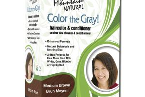 NATURAL COLOR THE GRAY! HAIR COLOR & CONDITIONER MEDIUM BROWN