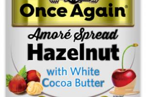 AMORE SPREAD HAZELNUT WITH WHITE COCOA BUTTER