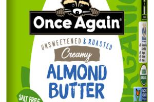UNSWEETENED & ROASTED CREAMY ALMOND BUTTER