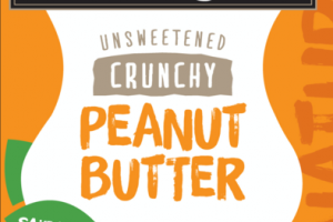 UNSWEETENED CRUNCHY PEANUT BUTTER