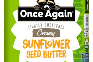 CREAMY LIGHTLY SWEETENED SUNFLOWER SEED BUTTER