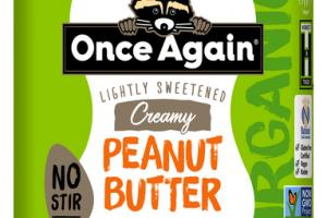 CREAMY LIGHTLY SWEETENED NO STIR PEANUT BUTTER