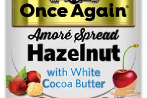 HAZELNUT WITH WHITE COCOA BUTTER AMORE SPREAD