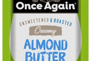CREAMY UNSWEETENED & ROASTED SALT FREE ALMOND BUTTER