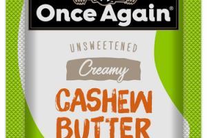CREAMY UNSWEETENED CASHEW BUTTER
