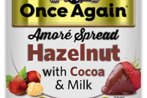 HAZELNUT WITH COCOA & MILK AMORE SPREAD