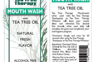 MOUTH WASH WITH TEA TREE OIL, FRESH