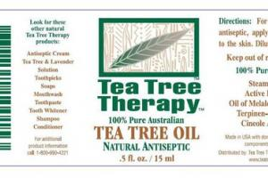 NATURAL ANTISEPTIC 100% PURE AUSTRALIAN TEA TREE OIL