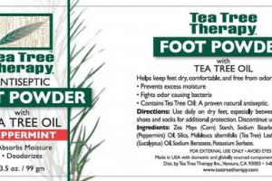 ANTISEPTIC FOOT POWDER WITH TEA TREE OIL, PEPPERMINT