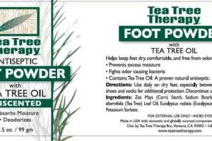 ANTISEPTIC FOOT POWDER WITH TEA TREE OIL, UNSCENTED