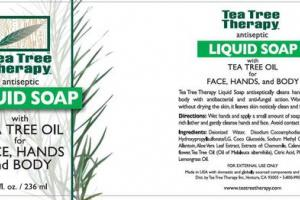ANTISEPTIC LIQUID SOAP WITH TEA TREE OIL FOR FACE, HANDS AND BODY