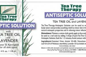 ANTISEPTIC SOLUTION WITH TEA TREE OIL AND LAVENDER