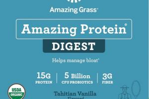 DIGEST HELPS MANAGE BLOAT WHOLE FOOD DIETARY SUPPLEMENT TAHITIAN VANILLA FLAVORED