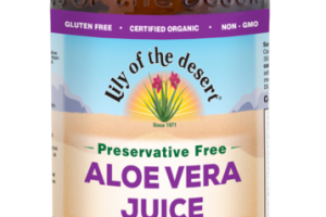 PRESERVATIVE FREE WHOLE LEAF FILTERED ALOE VERA JUICE A DIETARY SUPPLEMENT