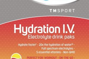 HYDRATION I.V. DIETARY SUPPLEMENT ELECTROLYTE DRINK PAKS RASPBERRY LEMONADE