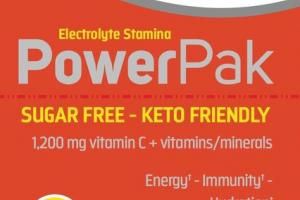 POWER PAK ELECTROLYTE STAMINA VITAMIN C 1,200 MG + VITAMINS/MINERALS ENERGY, IMMUNITY, HYDRATION DIETARY SUPPLEMENT PACKETS, CITRUS