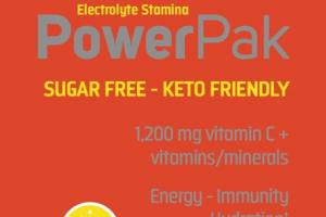POWER PAK ELECTROLYTE STAMINA VITAMIN C 1,200 MG + VITAMINS/MINERALS ENERGY, IMMUNITY, HYDRATION DIETARY SUPPLEMENT PACKET, CITRUS