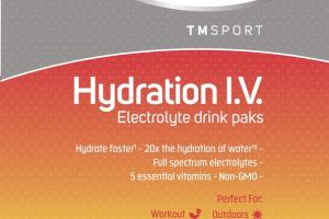 HYDRATION I.V. ELECTROLYTE DIETARY SUPPLEMENT DRINK PAKS, RASPBERRY LEMONADE
