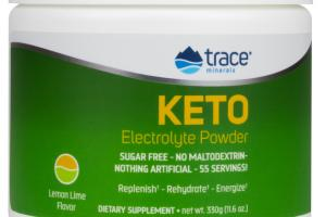 KETO ELECTROLYTE REPLENISH, REHYDRATE, ENERGIZE DIETARY SUPPLEMENT POWDER, LEMON LIME