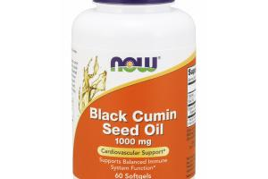 BLACK CUMIN SEED OIL 1000 MG CARDIOVASCULAR SUPPORT SUPPORTS BALANCED IMMUNE SYSTEM FUNCTION DIETARY SUPPLEMENT SOFTGELS