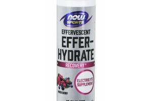 EFFERVESCENT EFFER HYDRATE RECOVERY ELECTROLYTE DIETARY SUPPLEMENT TABLETS MIXED BERRY