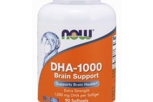 DHA-1000 BRAIN SUPPORT SUPPORTS BRAIN HEALTH EXTRA STRENGTH 1,000 MG DHA OMEGA-3/FISH OILS DIETARY SUPPLEMENT SOFTGELS
