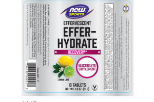 EFFERVESCENT EFFER-HYDRATE ELECTROLYTE SUPPLEMENT TABLETS LEMON LIME