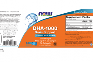 EXTRA STRENGTH DHA-1000 BRAIN SUPPORT A DIETARY SUPPLEMENT SOFTGELS