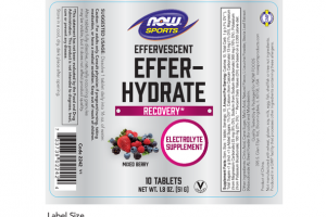 EFFERVESCENT EFFERHYDRATE ELETROLYTE SUPPLEMENT TABLETS, MIXED BERRY