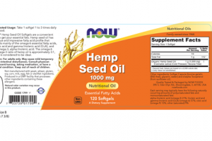 ESSENTIAL FATTY ACIDS HEMP SEED NUTRITIONAL OIL DIETARY SUPPLEMENT SOFTGELS