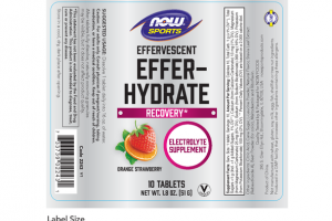 EFFER- HYDRATE EFFERVESCENT ELECTROLYTE SUPPLEMENT TABLETS ORANGE STRAWBERRY